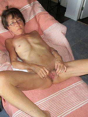 Skinny naked mature women