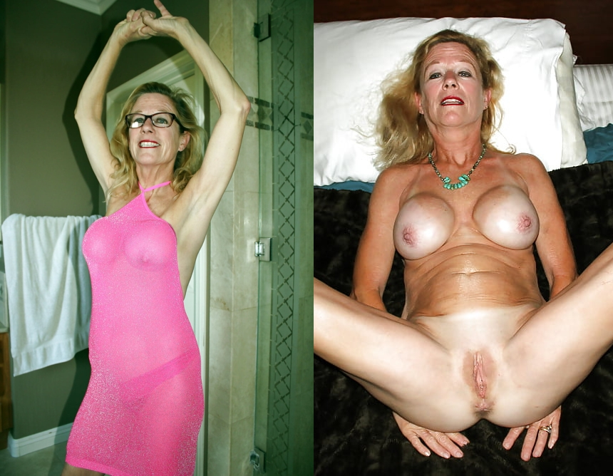 Mature dressed and undressed