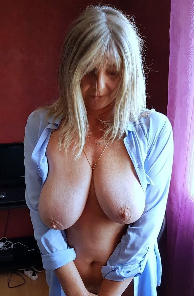 Natural tits mature